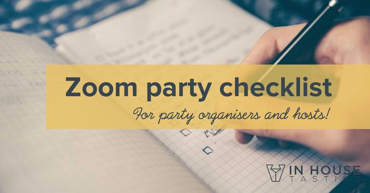 Zoom party checklist download virtual party checklist