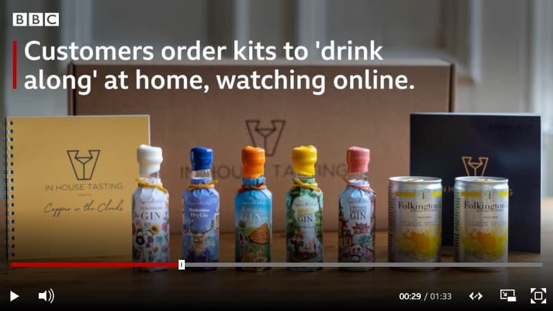 Virtual gin tasting BBC