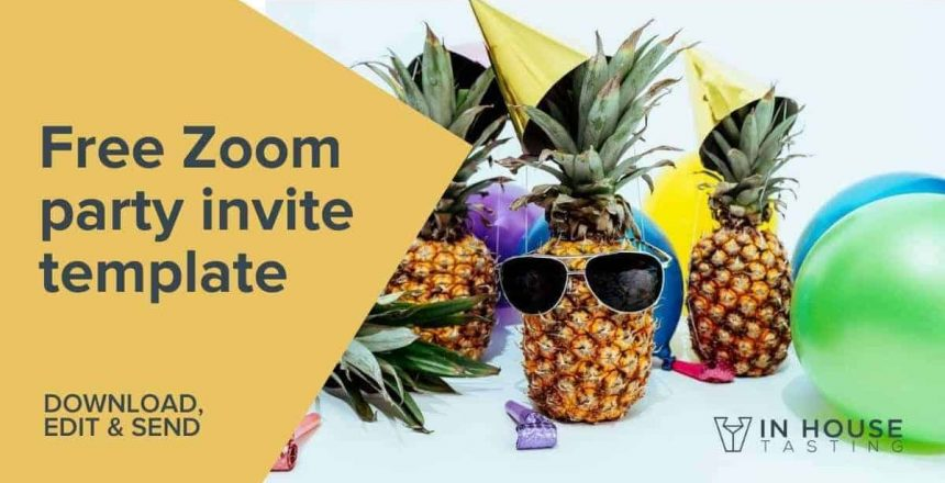 Free Zoomm party invite template virtual party